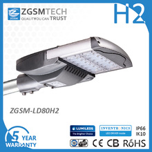 80W LED Street Light for Parking Lot Bronze Black Silver