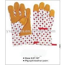 Garden Glove-Flower Fabric Glove-Safety Glove-Cheap Glove-Labor Glove-Work Glove