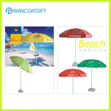 Paraguas de playa de encargo de la venta caliente a prueba de viento