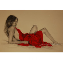 High Quality Handmade Indian Nude Painting for Home Decor