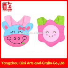 OEM service high quality custom baby bib cute cartoon character animal design baby bib manufacturer