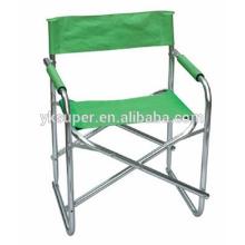 Cadeira de diretor de alumínio dobrável, cadeira de diretor para outdoor