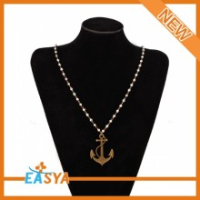 Metal Anchors Shape Pendant Necklaces For Women