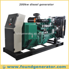 CE aprovado tipo aberto 200kw gerador diesel