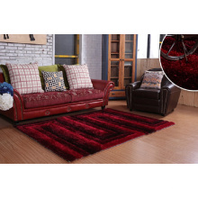Shaggy Carpet Living Room Polyester Silk Shaggy Carpet Rug