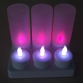 Super brillante LED tealight vela recargable