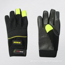 Gant de mécanicien pointillé en silicone micro-fibre-7217