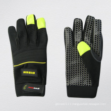 Micro Fiber Palm Silicone Dotted Mechanic Glove-7217