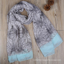 Best fashion design women loves printed tribal polyester shawl head wrap floral scarves 2017