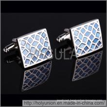VAGULA Cuff Links Quality Enamel Blue Cufflinks (Hlk31710)