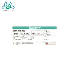 Tarjeta de embarque de impresión de papel personalizado de venta caliente