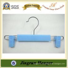 Pegadora de ropa de plástico ajustable con gancho para niños