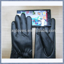 Leather Touch Glove Black Leather Touchscreen Glove For Ipad