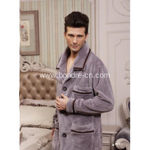 Premium Men's Classic Coral Fleece Pajamas Suit