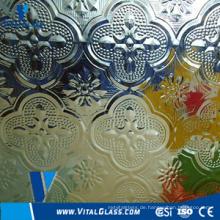 Löschen Sie Flora Patterned Glass mit CE & ISO9001