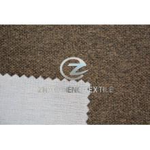Nuevo terciopelo de aspecto de lino con tejido de punto unido de vellón para uso en sofás y zapatos