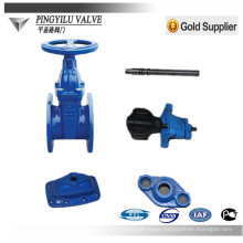 [PYL]ductile iron gate valve resilient seated gate valve with price competitive manufacturer Hebei