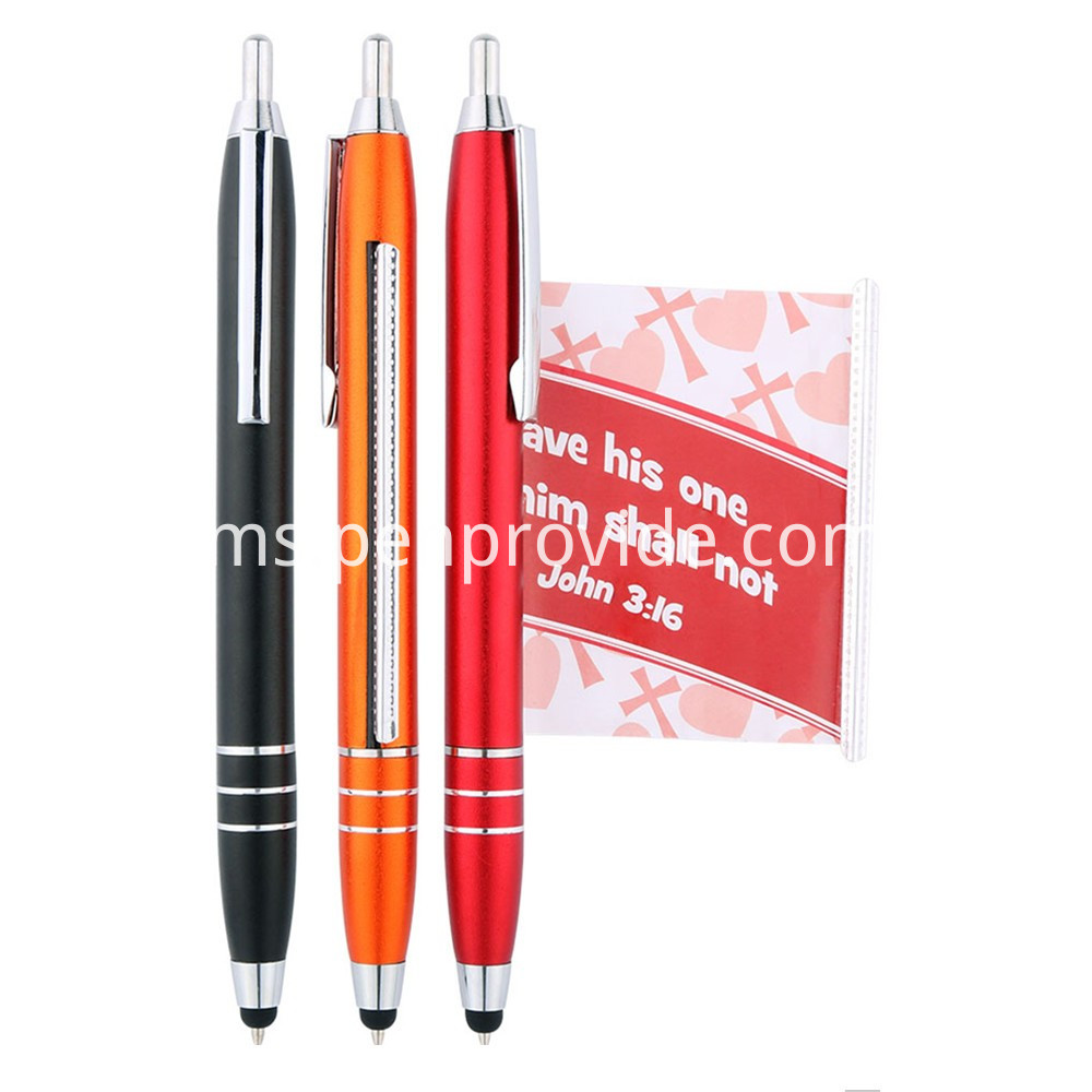 Pull Out Banner Pen with Stylus