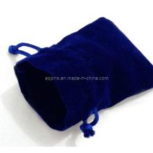 Sac d'emballage en velours bleu sans logo