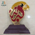 Custom Enamel Red and Yellow Color Metal Bird Trophy in Souvenir Gift (JB1078)
