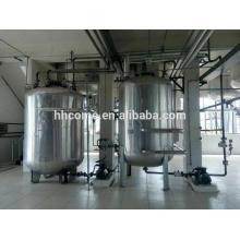 Usado óleo de cozinha que faz a linha de produção de biodiesel