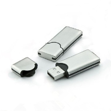 OEM Custom Logo Ssmile Face Metal Flash Drive