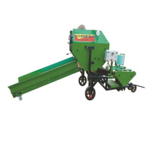 Full automatic silage bundling and coating machine
