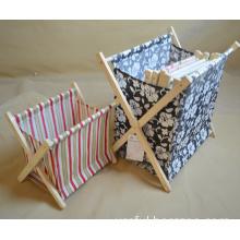 Foldable Fabric Magazine Rack