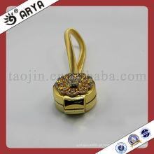 Clips magnéticos de cortina de ouro com flor decorativa de diamante para cortina decorativa de clip