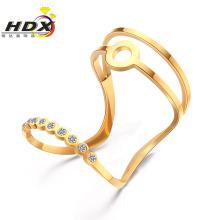 Anéis de aço inoxidável senhoras anéis de moda anel de diamante jóias (hdx1152)