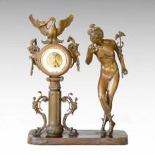 Statue de l'Horloge Sercet Bell Bronze Sculpture TPE-013