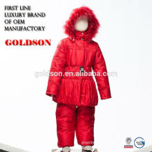 European children's outdoor winter clothes jacket and pant