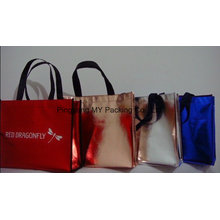 OEM Promotional Shopping Gold Laminated Nonwoven PP Bag