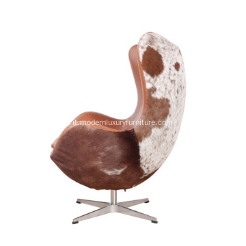 Arne Jacobsen Leather Iconic Egg Chair Replica