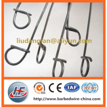 Plastic coated wire loop ties/single loop baling wire ties/double end loop tie wire