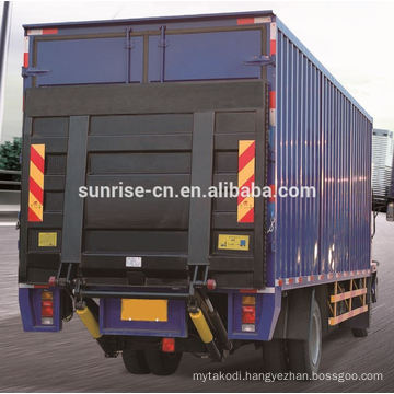 Custom made material loading tail lift suspended working platform with