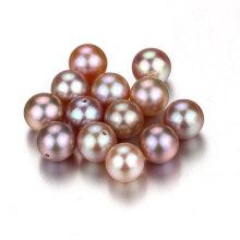 Snh color púrpura 7.5-8mm AAA mejores perlas de perlas naturales de calidad