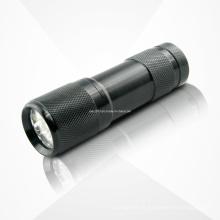 9PCS UV roxo AAA bateria lanterna LED
