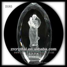 K9 3D Laser sous-surface Image à l'intérieur de cristal ovale
