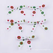 Dots Printing Grosgrain Ribbon Bow