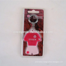 Promotional 3D rubber crystal keychain
