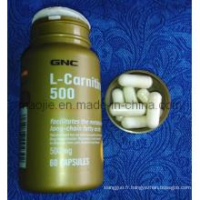 GNC L-Carnitine 500 Mg poids perte minceur diététique (MJ-GNC 30 / 60 CAPS)
