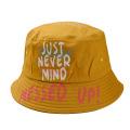 Adjustable light yellow blank bucket snapback hat