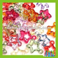 Perle en acrylique de belle étoile de mode, perles acryliques creuses claires
