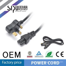 SIPU 3 pin pvc jacket laptop thailand power cord plug for south africa 6.8 mm