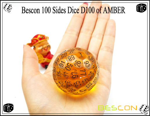 Bescon 100 Sides Dice D100 of AMBER-1