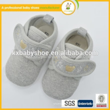 Calçados macios antideslizantes acolchoados mais sapatos de renda de veludo sapatos de algodão