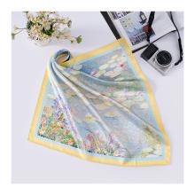 Lenço de seda de impressão digital com design de marca personalizado de 16 MM