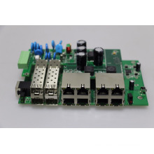 L2-Management POE-Schalter PCB / PCBA Board im Freien volle 30W 8 Häfen industrielle Poe Ethernet-Switch