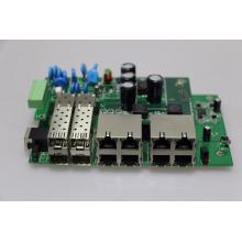 L2 tablero al aire libre del interruptor de POE tablero de PCB / PCBA completo 30W 8 puertos industrial del interruptor de Ethernet del poe